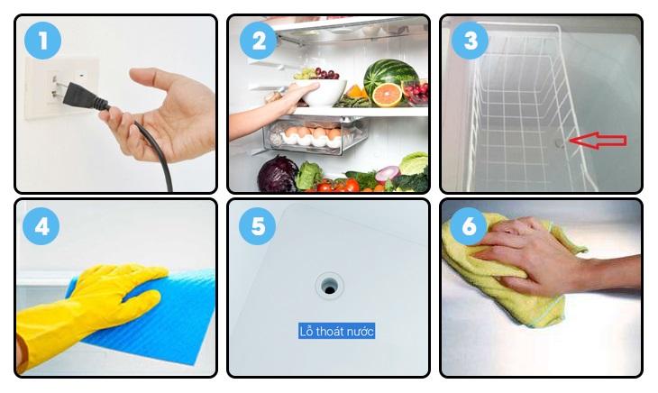 Hướng dẫn vệ sinh tủ đông đơn giản tại nhà