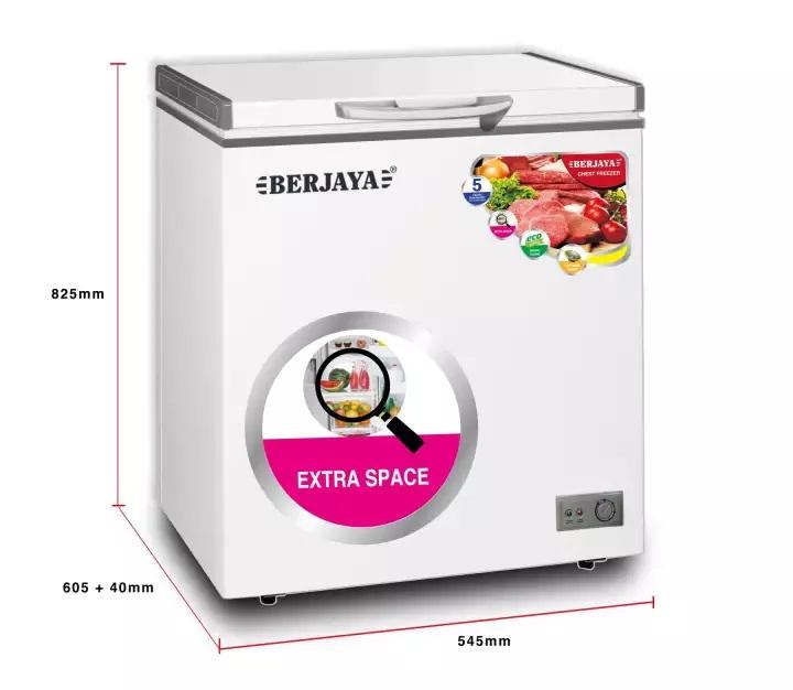 TỦ ĐÔNG BERJAYA 102 LÍT BJY-CFSD100A-R6 R600A