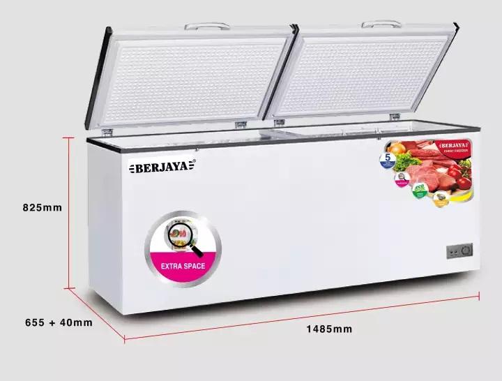 TỦ ĐÔNG BERJAYA 400 LÍT BJY-CFSD500A R134A