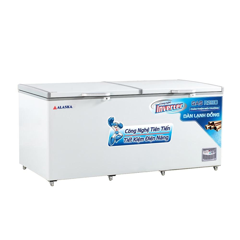 Tủ Đông Inverter Alaska HB-1200CI 1015 Lít Dàn Đồng R290 2 Cánh