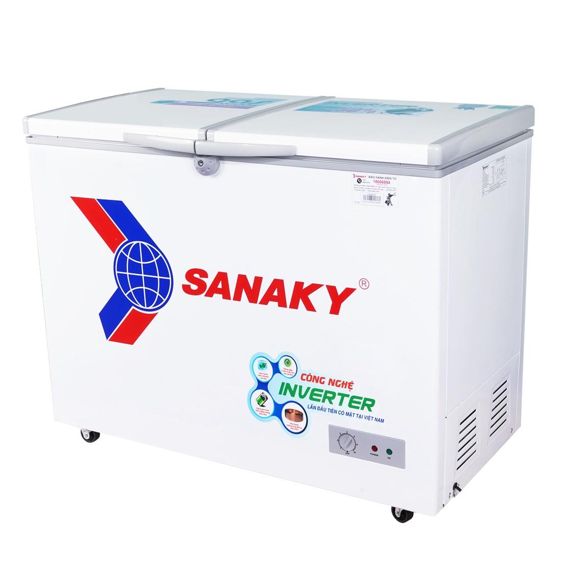 TỦ ĐÔNG INVERTER SANAKY VH-2899A3 235 LÍT ĐỒNG