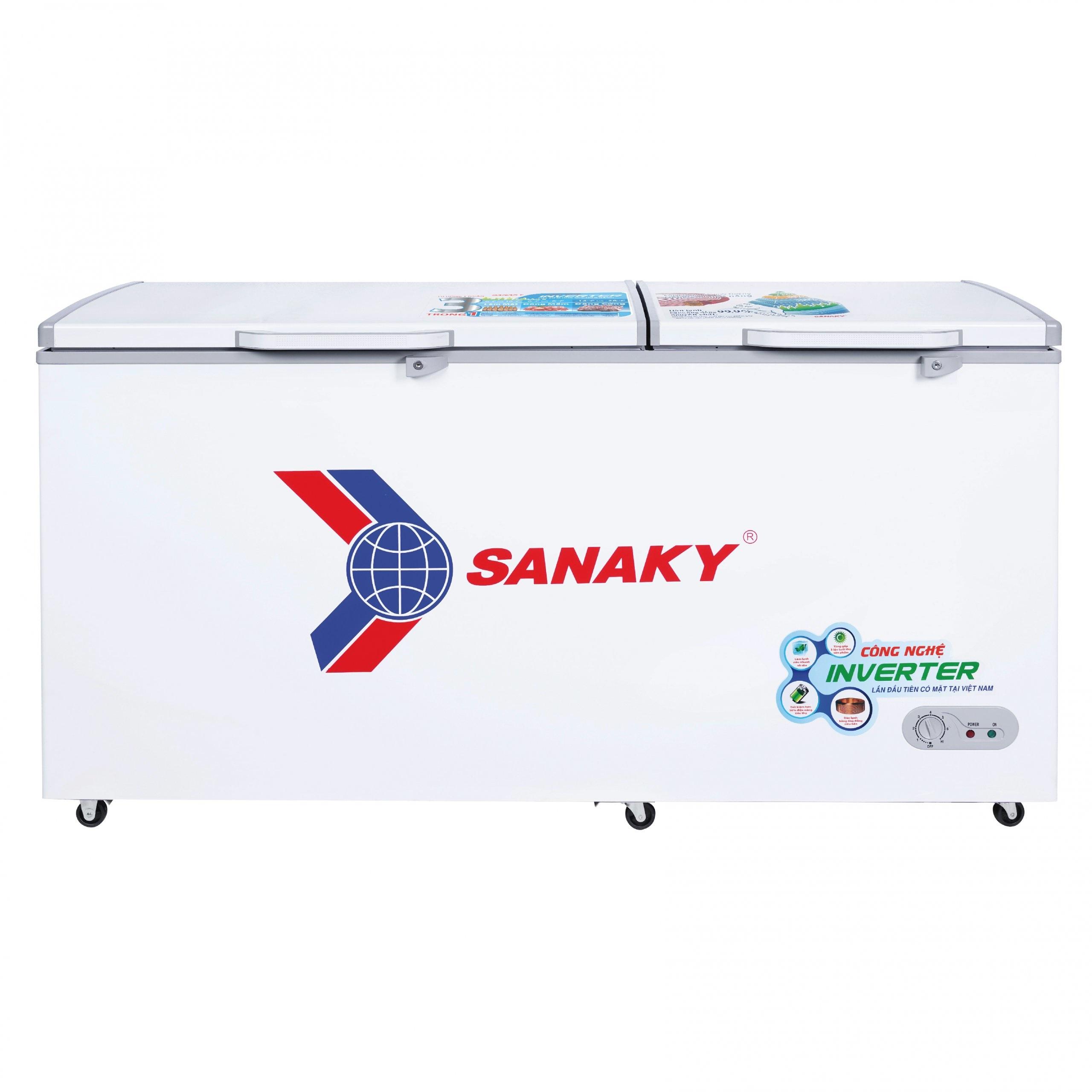 TỦ ĐÔNG INVERTER SANAKY VH-6699HY3 530 LÍT ĐỒNG