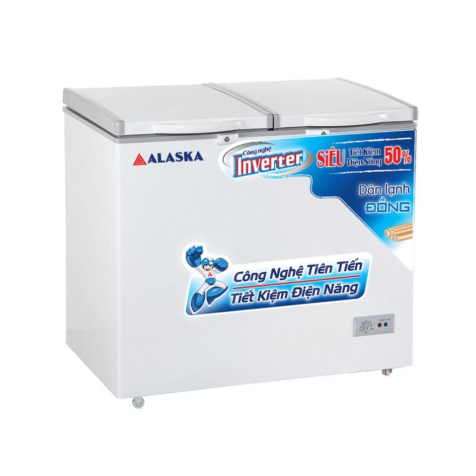 Tủ Đông Mát Inverer Alaska BCD-5568CI 372L Đồng