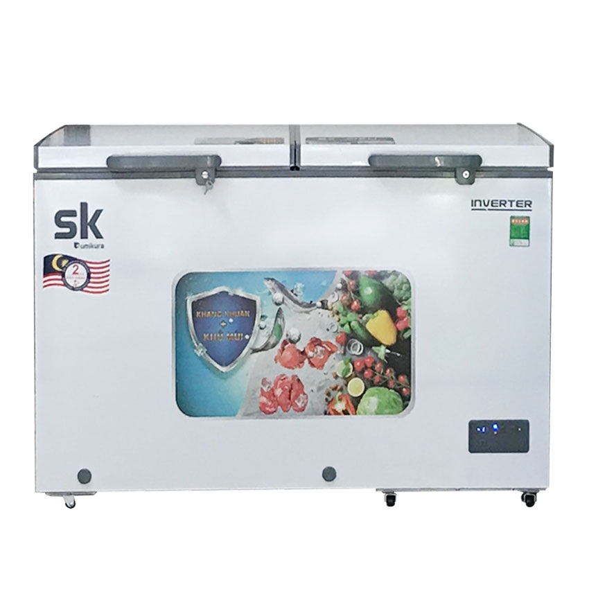 TỦ ĐÔNG MÁT INVERTER SUMIKURA 400 LÍT SKF-400DI ĐỒNG (R600A) (KÍNH LÙA)