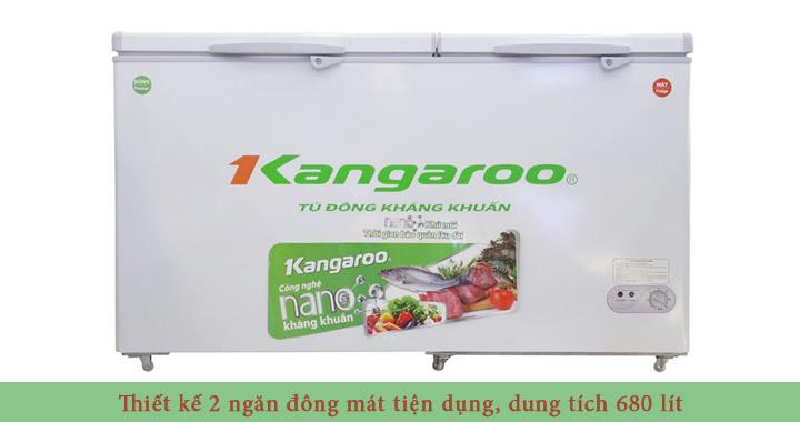 Tủ Đông Mát Kangaroo KG688C2