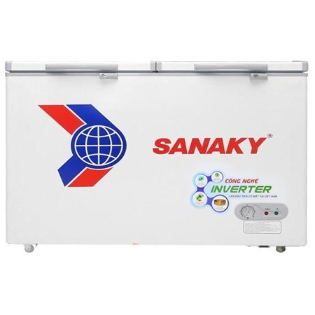 TỦ ĐÔNG MÁT SANAKY INVERTER 365 LÍT VH-5699W3 DÀN ĐỒNG