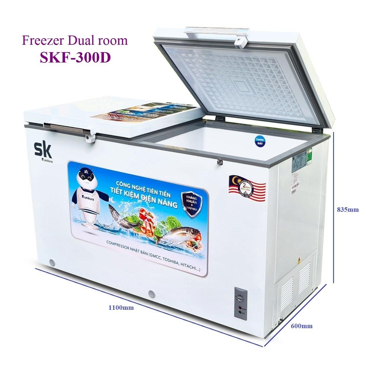 Tủ Đông Mát Sumikura SKF-300D(JS) 250 Lít Dàn Đồng