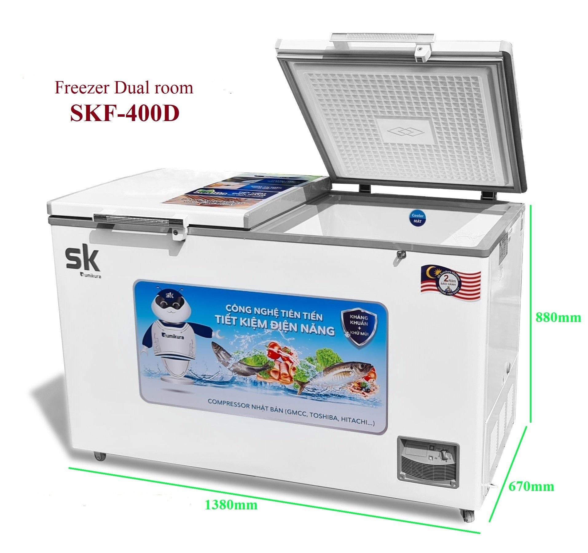 Tủ Đông Mát Sumikura SKF-400D(JS) 400 Lít Dàn Đồng