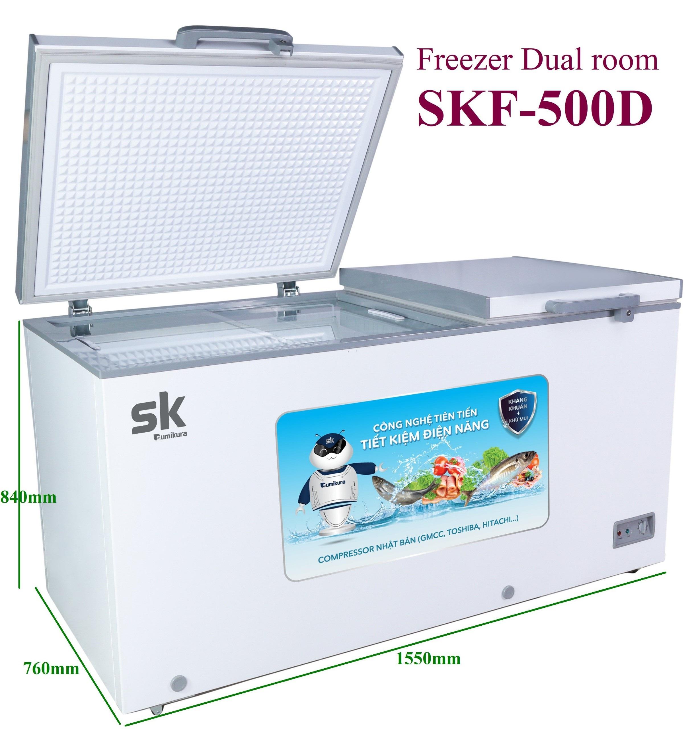 Tủ Đông Mát Sumikura SKF-500D(JS) 500 Lít Dàn Đồng