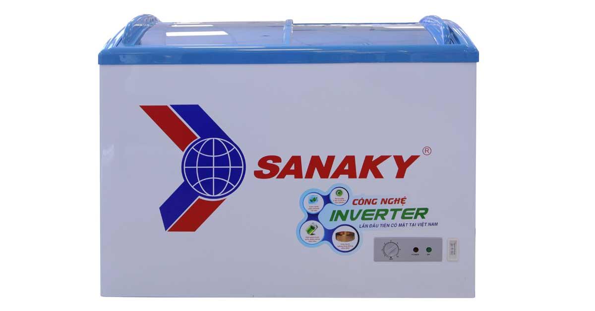 TỦ ĐÔNG SANAKY INVERTER 260 LÍT VH-3099K3 DÀN ĐỒNG TRƯNG BÀY KEM