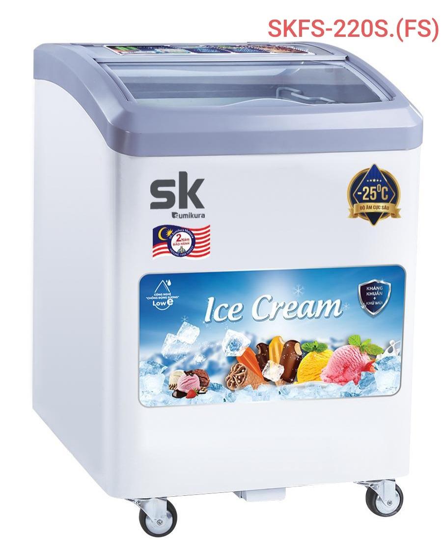 TỦ ĐÔNG SK SUMIKURA SKFS-220C(FS) 150 LÍT CHỨA KEM