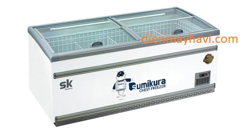 Tủ Đông SUMIKURA SKIF-250SX 1100 Lít Dàn Đồng Trưng Bày Kem
