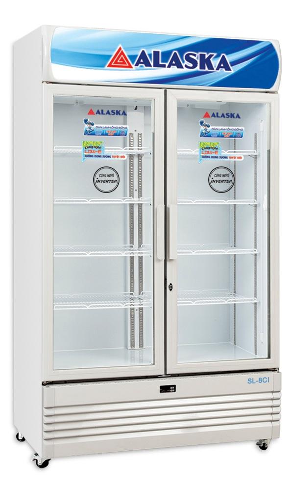 Tủ Mát Inverter Alaska SL-8CI 730 Lít Dàn Đồng 2 Cửa