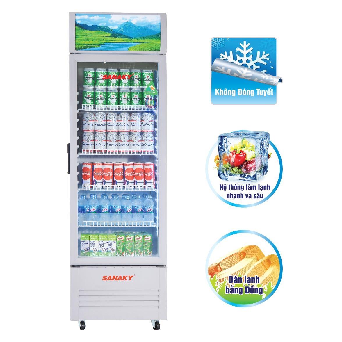 Tủ Mát Sanaky VH-359KL 290 Lít Dàn Đồng